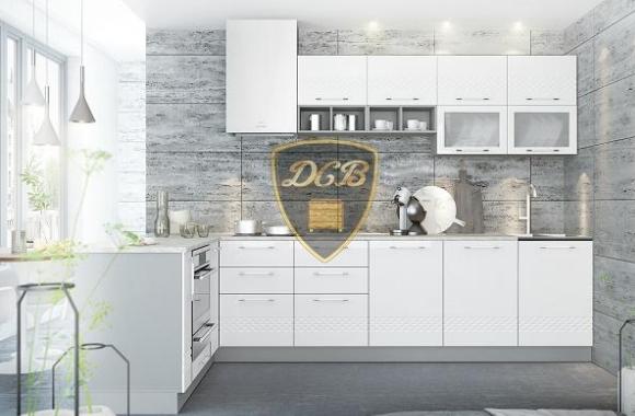 Кухонный гарнитур «Капля» 1800х3100 мм