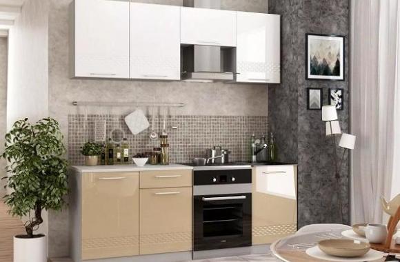Кухонный гарнитур «Капля» 2100 мм
