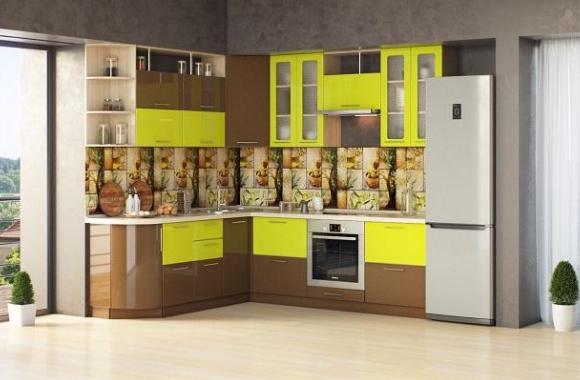 Кухонный гарнитур «Ирина» 2100х2400 мм