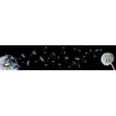Стеновая панель «Акватон»  Одуванчики черные