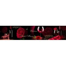 Стеновая панель «Акватон» Роза и вино