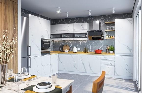 Кухонный гарнитур «Скала» 2200х3300 мм